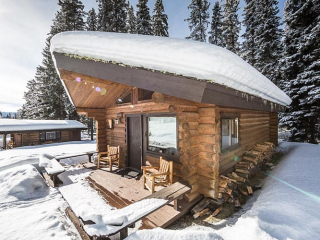 Ouzel Cabin covered in deep snow